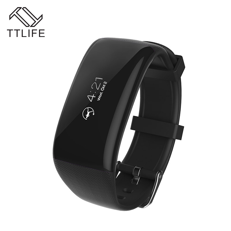 2016 Hot Sale TTLIFE Bluetooth Smart Bracelet Smart band Heart Rate Monitor Wristband Fitness Tracker pk
