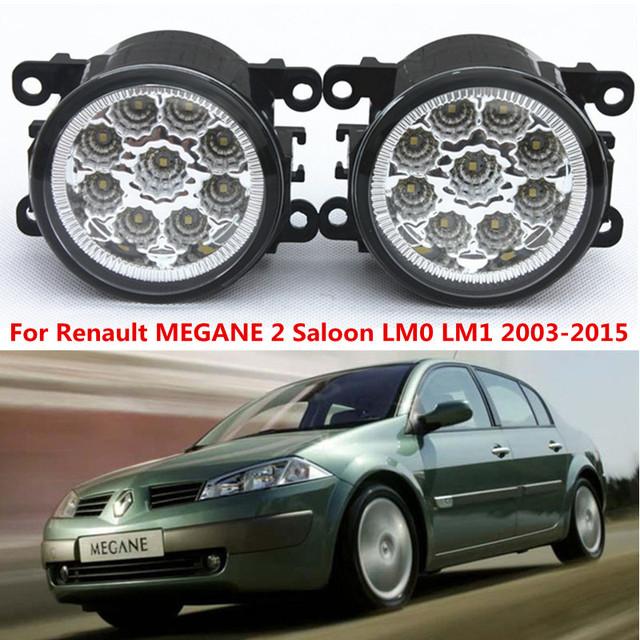 Para Renault MEGANE 2 Saloon LM0 LM1 2003-2015 estilo Do Carro amortecedor dianteiro Faróis de neblina LED alto brilho nevoeiro lâmpadas de 1 conjunto