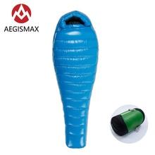 AEGISMAX saco de dormir para adultos, ultraligero, 800FP, pluma de ganso blanco, para primavera y otoño