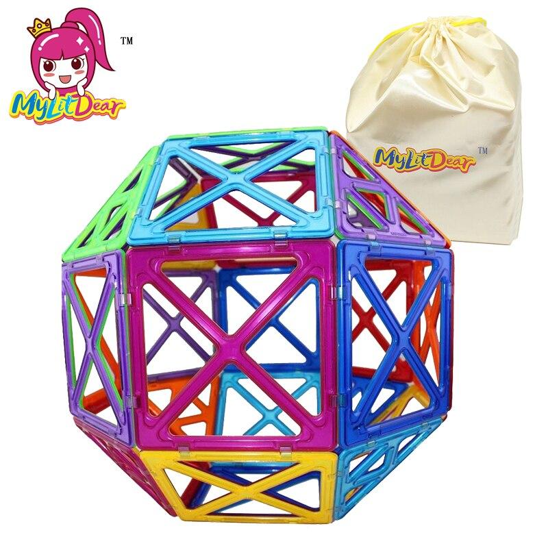 MylitDear 26 Pcs Grande Taille Magnétique Briques Carré Triangle - Concepteurs et jouets de construction - Photo 1