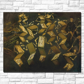 Salvador-dali twist in the velazquez studio painting For Living Room Home Deco Oil Painting On Canvas Wall Painting No Framed 3