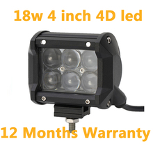 ECAHAYAKU 18W 27W 36W 60W 4 inch Led work light driving bar for Offroad 4x4 4WD AWD SUV ATV Trailer Truck Jeep motorcycle