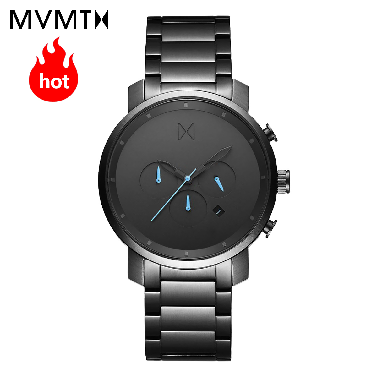 MVMT watch official authorized European and American men's watch fashion style leather strap waterproof quartz watch 45mmdw