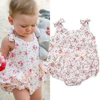 1f3fcde3cc Macacão de bebê Menina Conjuntos de Roupas de Verão Meninas Roupas Bebes  Flor Roupa Do Bebê