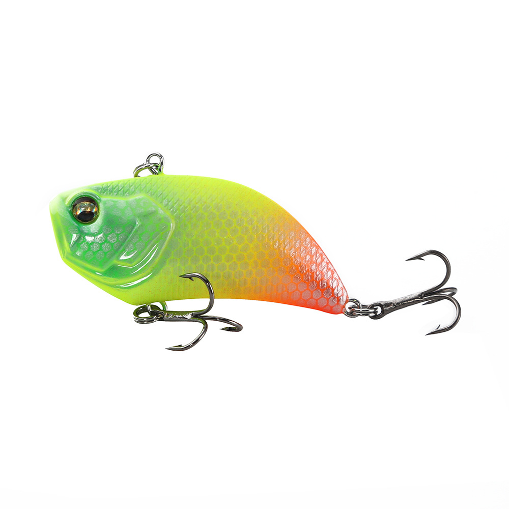 Image 2 - 1Pcs VIB Lure 12g 5.2cm Vibration Hard Bait 3D eyes ABS Plastic Fishing Tackle Wobblers Noisy Rattle Isca Artificial Pesca-in Fishing Lures from Sports & Entertainment