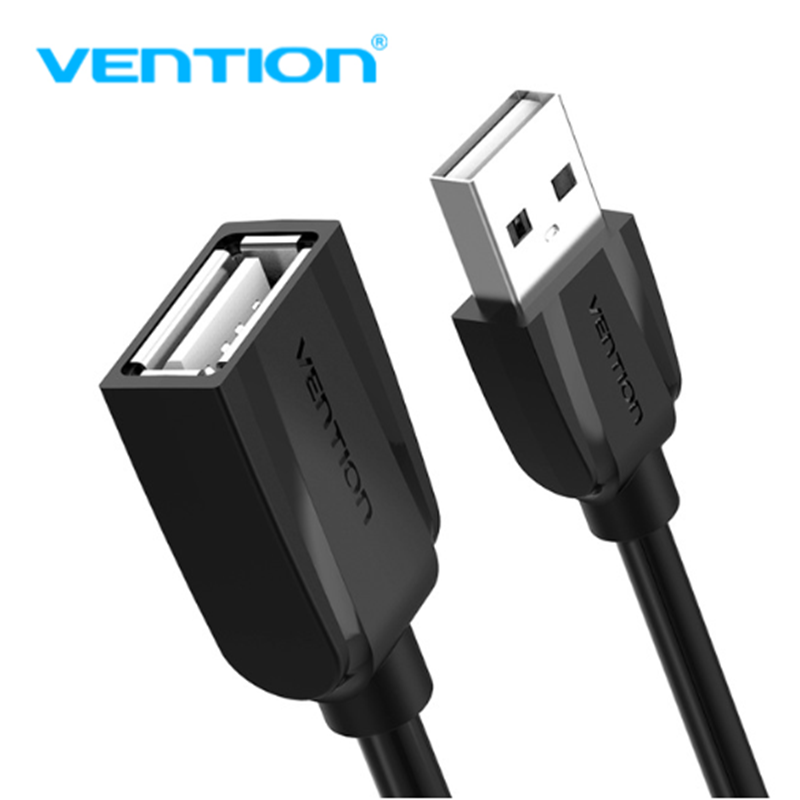 Vention USB 2.0 Extension Cable Data Male to Female Cable Extender 1m/1.5m/2m/3m/5m for Phone Charging Computer USB2.0 Extending