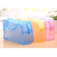 Wholesale Waterproof  Women Makeup Bag Portable Makeup Cosmetic Toiletry Travel Wash Toothbrush Pouch Organizer Bag Tools Sac