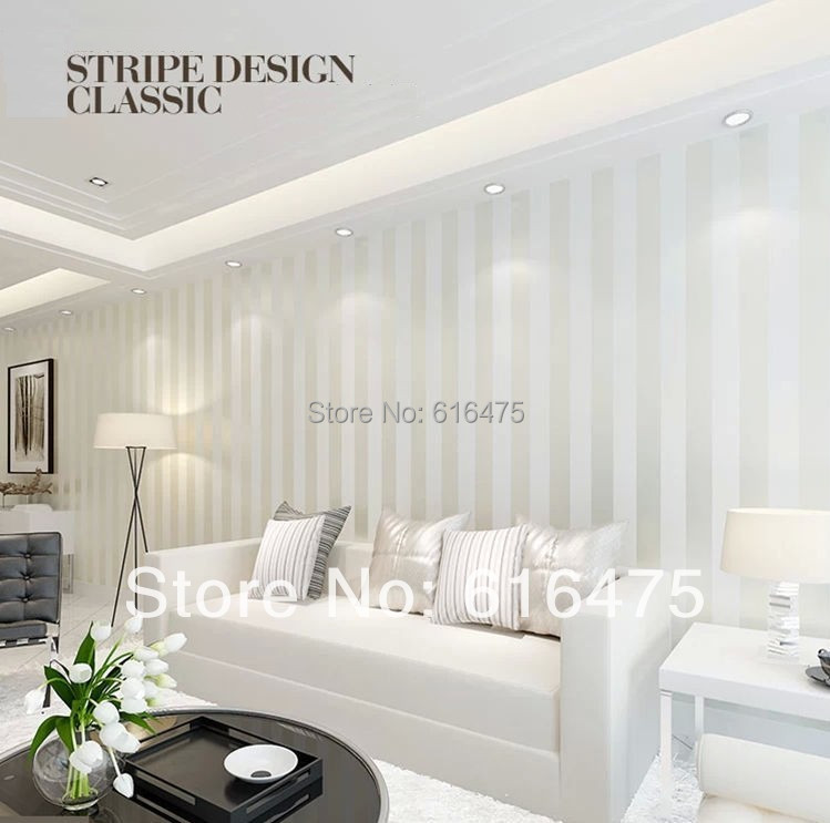 Apartment Living For The Modern Minimalist: European Modern Minimalist Country Luxury Stripe Wallpaper