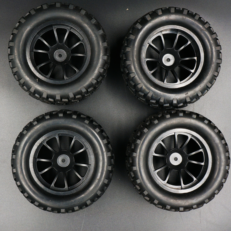88035 4PCS RC 1/10 Monster Bigfoot Car Truck Wheel Rim & Rubber Tyre Tires 12mm HEX Fit hsp redcat china india relations and implications for pakistan
