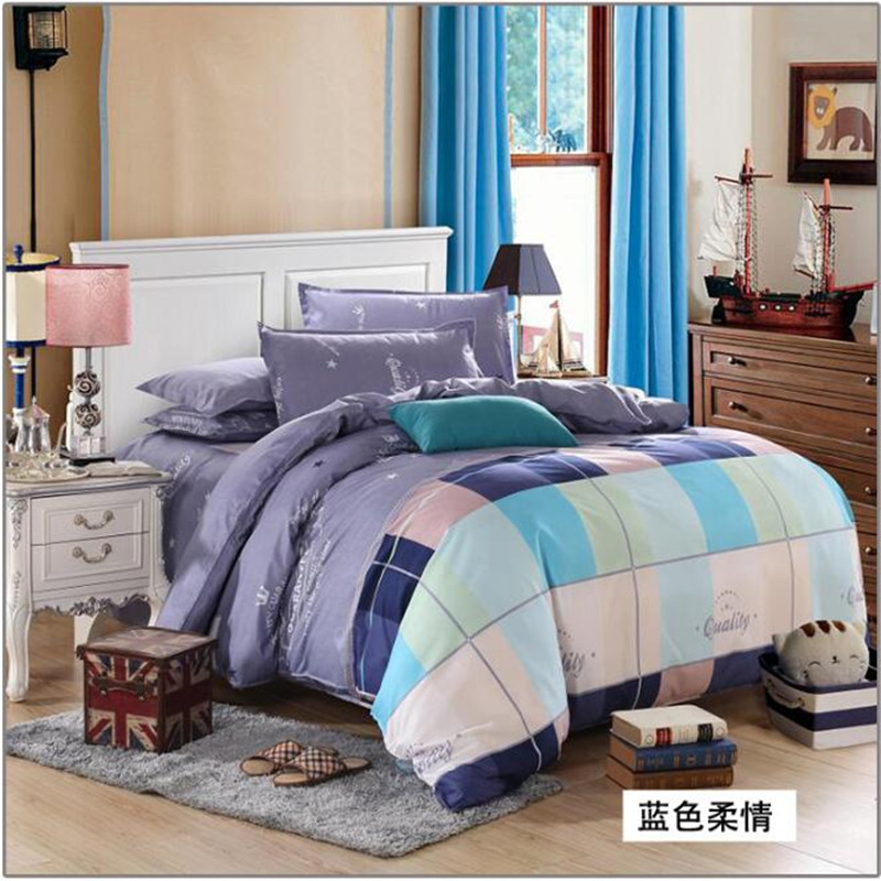 New Fashion Bedding Set 4pcs/3pcs Duvet Cover Sets Soft Polyester Bed Linen Flat Bed Sheet Set Pillowcase Home Textile Drop