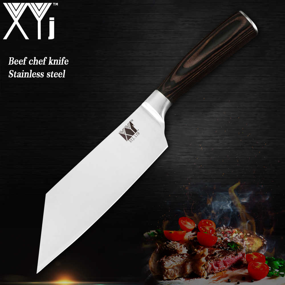 XYj Kitchen Knife 7Cr17 Stainless Steel Chef Knives Super Sharp Blade Kirisuke High Carbon Cleaver Cutter Cooking Tools Japan