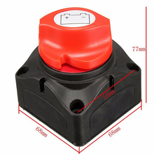 Universal 12V/24V Battery Isolator Master Cutoff Cut Off Power Kill Switch Sale Waterproof Cover for Isolator Marine Car Boat