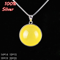 Classic Circle 14/15/19/20mm Pendant Base Blank For Men Women 100% Sterling-Silver Pendant Jewelry Fittings