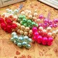 10 piezas 12mm pequeñas bayas Artificial Flor de espuma de perla estambres de cereza para la boda de la decoración de la Navidad