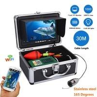 GAMWATER 7 TFT Monitor 30M 50M 1000tvl Underwater Fishing Video Camera Kit HD 720P Wifi Wireless