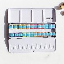 送料無料新製品ルーカス24色シニアsoid水彩ペイント鉄ボックススーツ