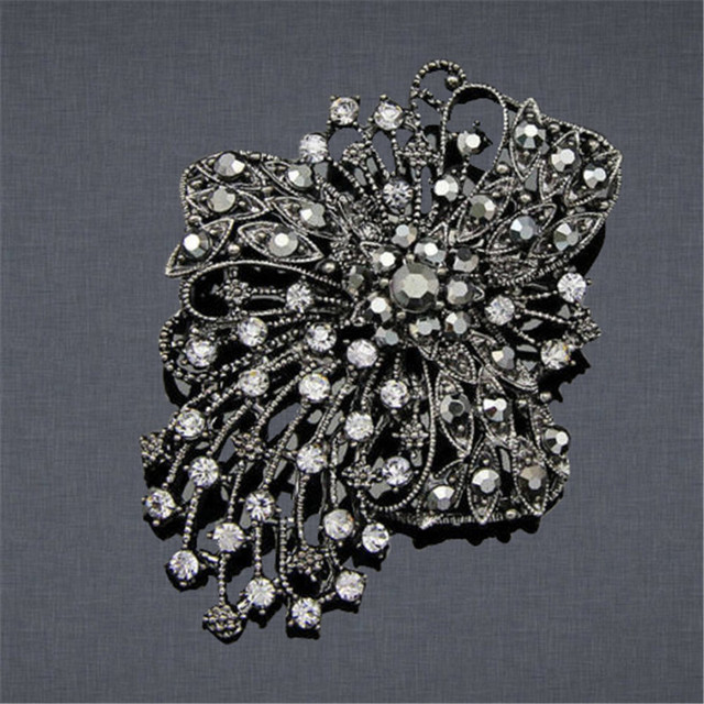 Superior Women Ladies Wedding Bridal Hollow Brooch Pin Charm Jewelry Party Pageant  Gift