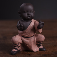 Bruce lee Buddha Statues Yoga Figurines Home Decor Shaolin Temple Monks Toys Car Decor Shaking Head Figurine
