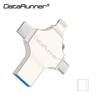 DataRunner OTG 4 in 1 design Usb Flash Drive 128GB Usb Stick 3.0 Type C Pen Drive 16GB 32GB 64GB cle Usb 3.0 Flash Disk Pendrive