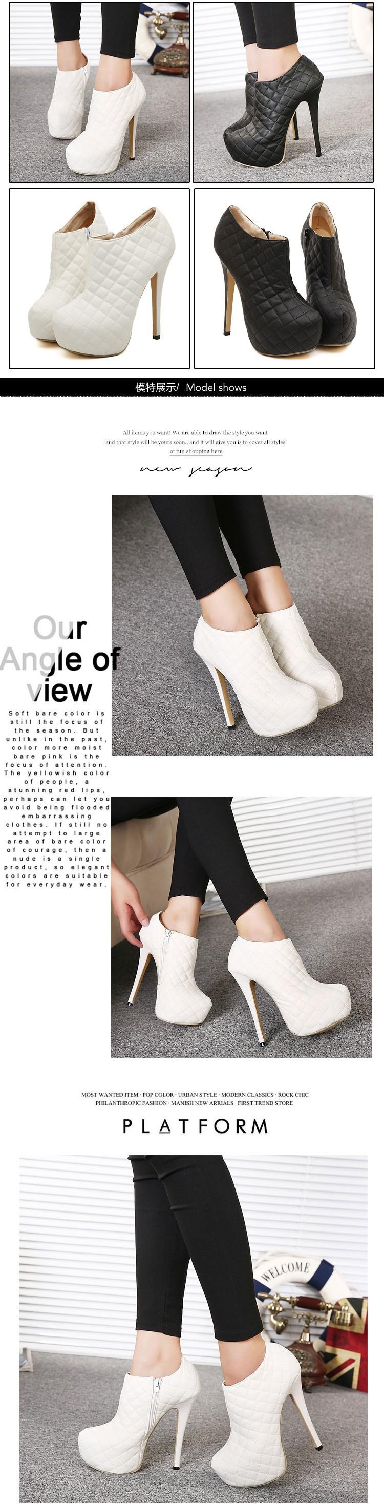 2284cdba54 Moda de nova mulheres botas brancas Vogue partido sapatos bomba ...