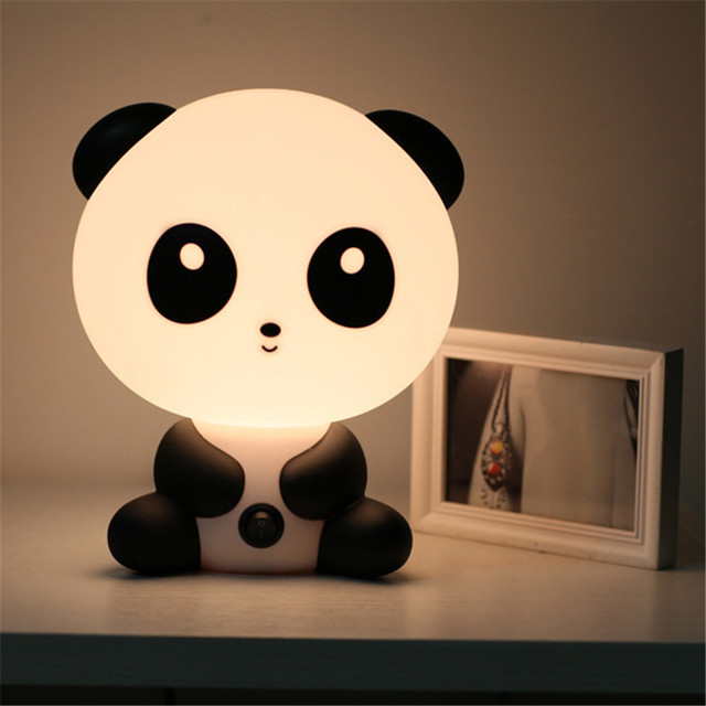 Led Desk Lamps For Children Creative Cute Cartoon Animals Style Kids Bed Night Light Table Lamp