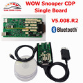 2017 Best Price V5.008 R2 WoW Snooper With Keygen Bluetooth OBD2 Diagnostic Tool TCS CDP Pro Single Board CNP Free Ship