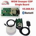 2017 Melhor Preço V5.008 R2 WoW Snooper Com Keygen Bluetooth OBD2 Ferramenta De Diagnóstico TCS CDP Pro Única Placa CNP Grátis navio