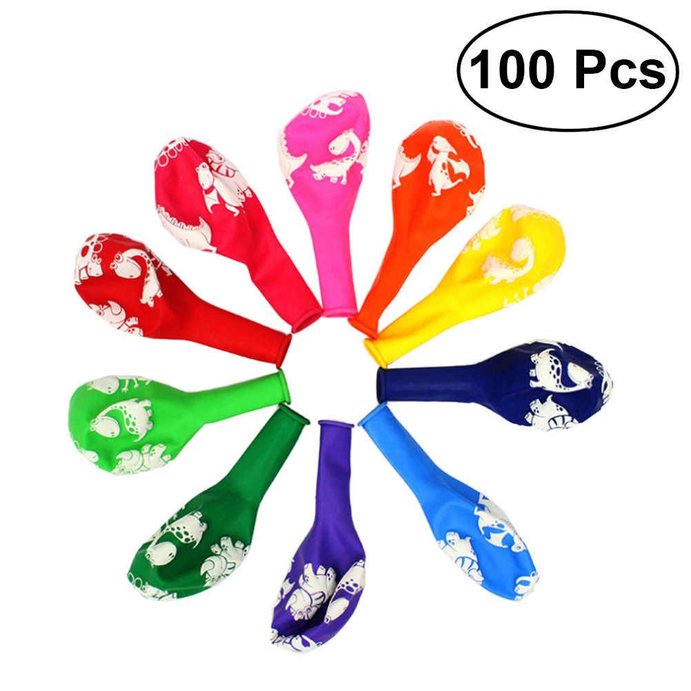 100 pcs 12 Polegada Pegadas de Dinossauros Balões Balões De Látex De Borracha Decorações da Festa de Aniversário Favorece Suprimentos (Cor Aleatória)