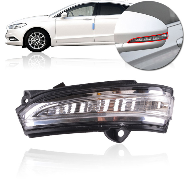 Capqx Led Side Rearview Mirror Turn Light For Ford Mondeo Fusion 2017 Signal Lamp Rear View