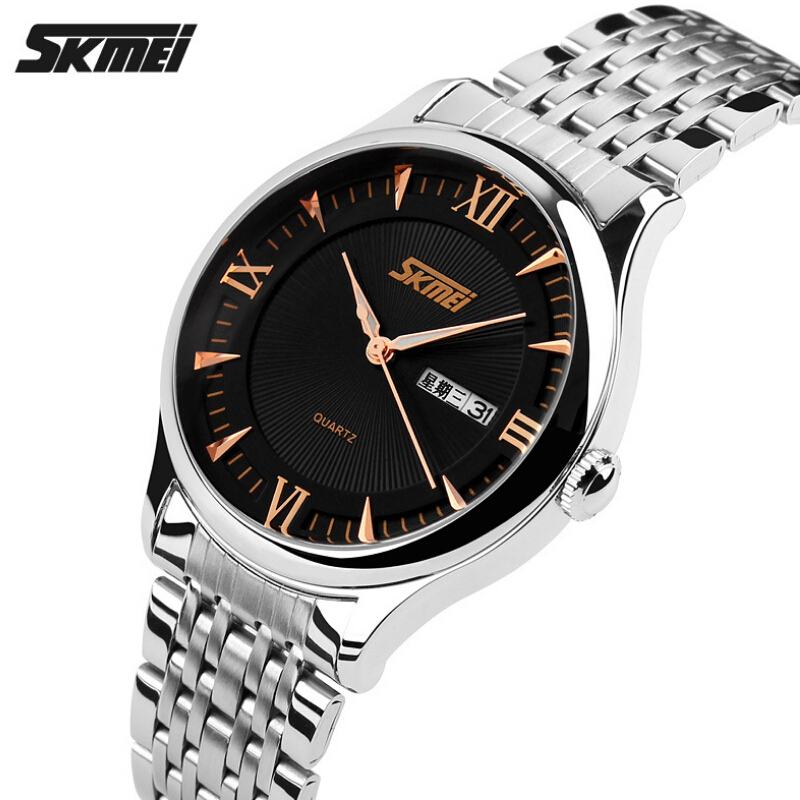 Top Luxury Brand SKMEI Men Watches Men Stainless Steel Male Clock Wristwatch Mens Quartz Casual Sport Watches Reloj Para Hombre