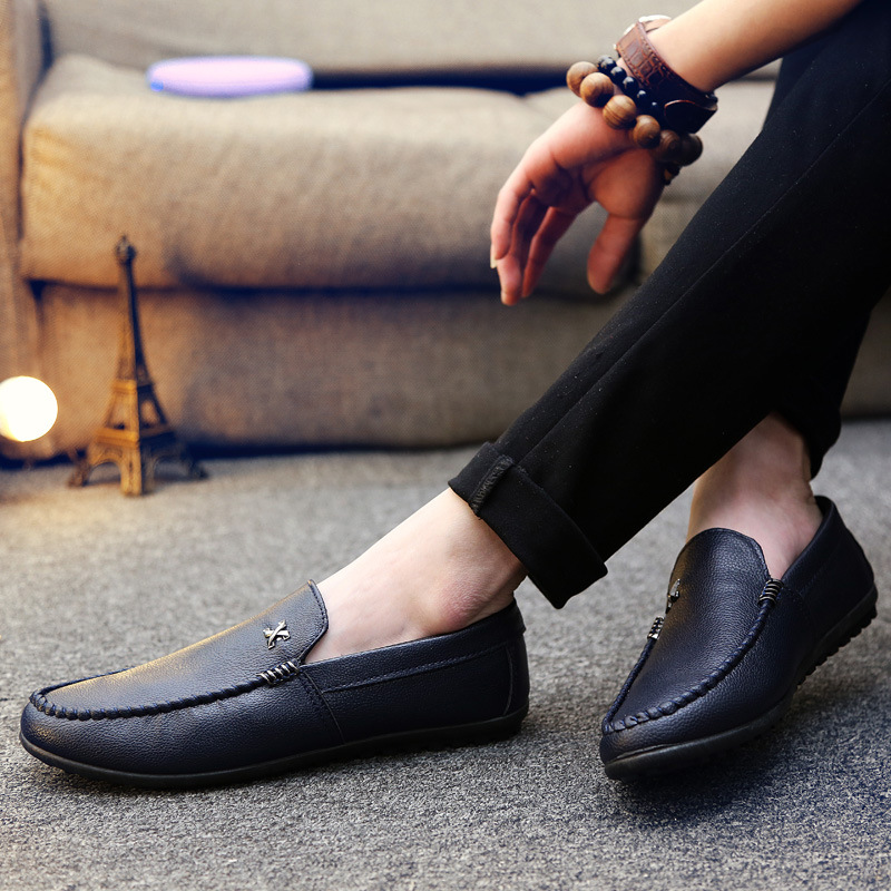 Soft Leather Loafers Men Casual Shoes Flats Mans Footwear Zapatos Hombre Moccasins Slip On Sneaker Summer Drive Male Shoe AET613