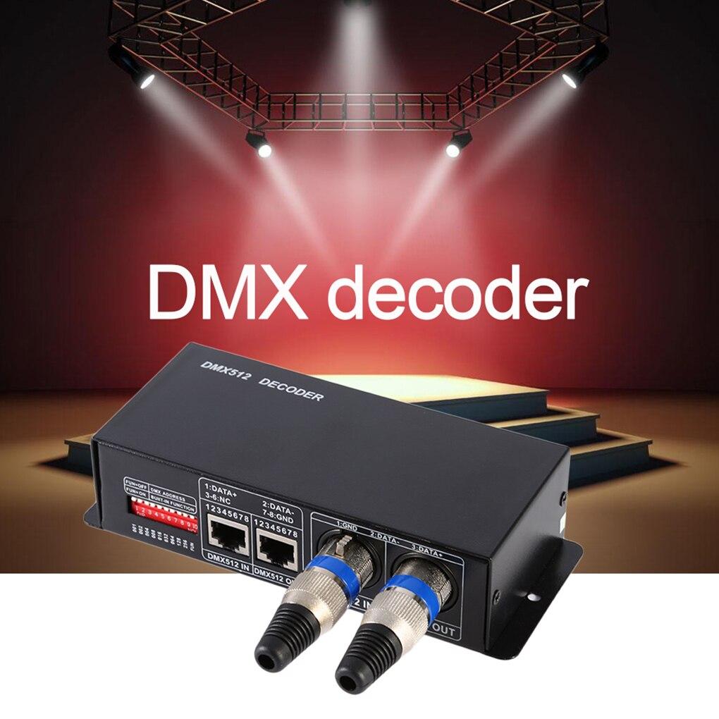 3CH DC12-24V RGBW DMX 512 Decoder Convenient LED Controller RGB LED DMX512 Decoder 216w px24506 dmx512 led decoder black 12 24v