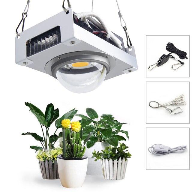 Cxb3590 cob led crescer espectro completo de luz 100w 200 cidadão 1212 led planta crescer lâmpada para estufas tenda interior planta hidropônica
