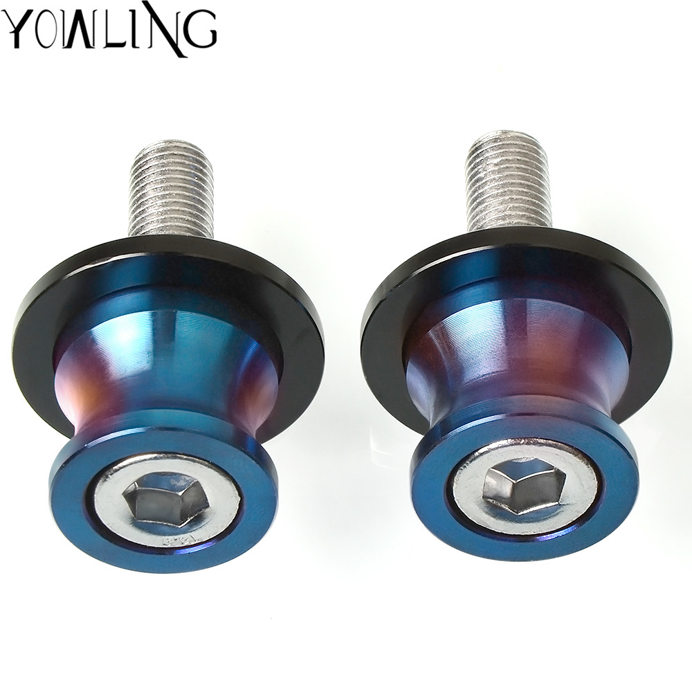 Motorcycle Stand Screw Swingarm Spools <font><b>Slider</b></font> For YAMAHA FZ6 <font><b>FAZER</b></font> FZ6R FZ8 MT07/FZ-07 XJ6 N / XJ6 DIVERSION KTM DUKE 390 <font><b>250</b></font> image