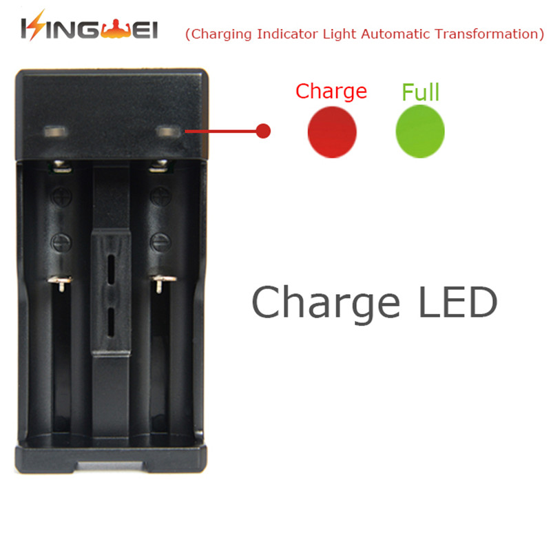 KingWei Free Shipping 10pcs lot XCC 988 Dual path 18650 rechargeable battery charger with Micro USB