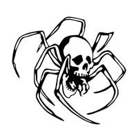 Vinyl Car Body Decal Creepy Arachnid Skull Spider Fashion Car Sticker Motorcycle Exterior Accessories JDM