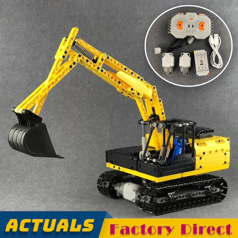 Remote controlled Crawler Excavator Building Blocks Engineering Vehicle Bricks Kids Educational Toy Gift Compatible