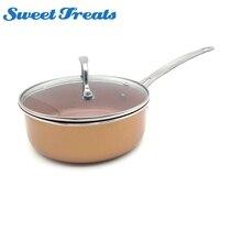 Подсластители антипригарная медная посуда с керамическим покрытием Кастрюля с индукцией совместима и мыть в посудомоечной машине печь безопасная Бестселлер