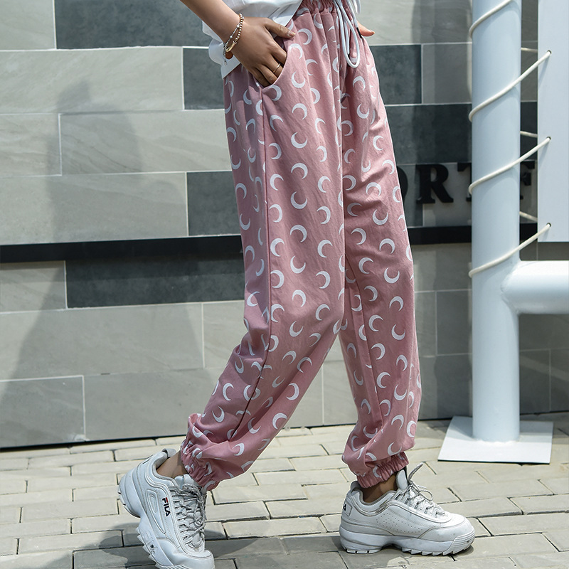 Plus Size Casual Cool Tencel Cotton Women Trousers Summer Ankle-Length Harem Pants Fashion Dot Print Autumn Striped Work Pants