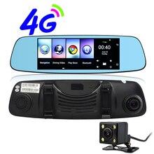 Udricare 7 дюймов 4 г Android GPS навигации Wi-Fi Bluetooth Телефонный звонок 1 г Оперативная память 16 ГБ заднего вида Двойной Камера видео перекодировщик зеркало GPS