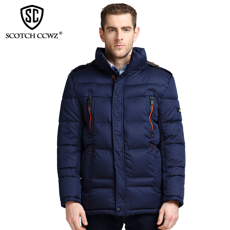 SCOTCH CCWZ Brand Fashion Winter Jacket Men Parkas Warm Windproof 2017 Casual Jackets And Coats For Men Clothing Outerwear 9905 scotch