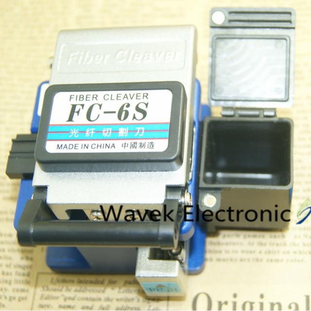 FTTX FTTH herramientas de corte de fibra óptica, FC 6S, cortador de cable de fibra óptica de Metal de alta precisión + caja de almacenamiento + bolsa