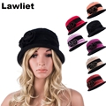 A377 Retail Elegant Fashion 100%Wool Ladies Beanies Hat Winter Cloche Hats with Multicolor Vintage Womens Hats