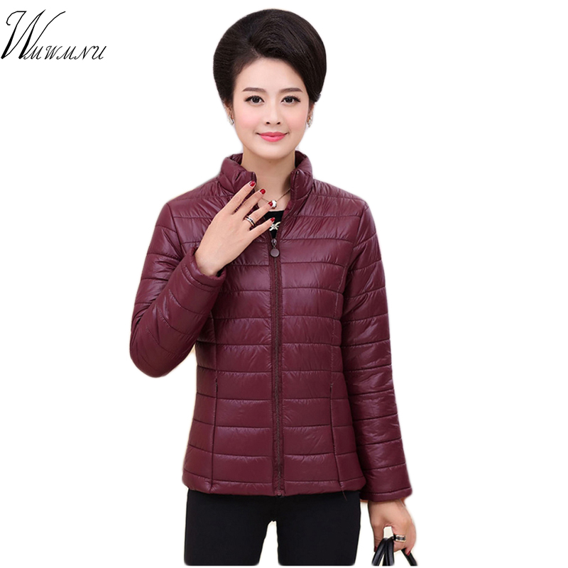 Plus size 4XL 5XL ultra light down Cotton jacket women 2018 Fashion streetwear baseball jacket winter casual Windproof outerwear