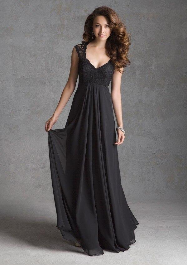 Фото длинные платья в пол черные