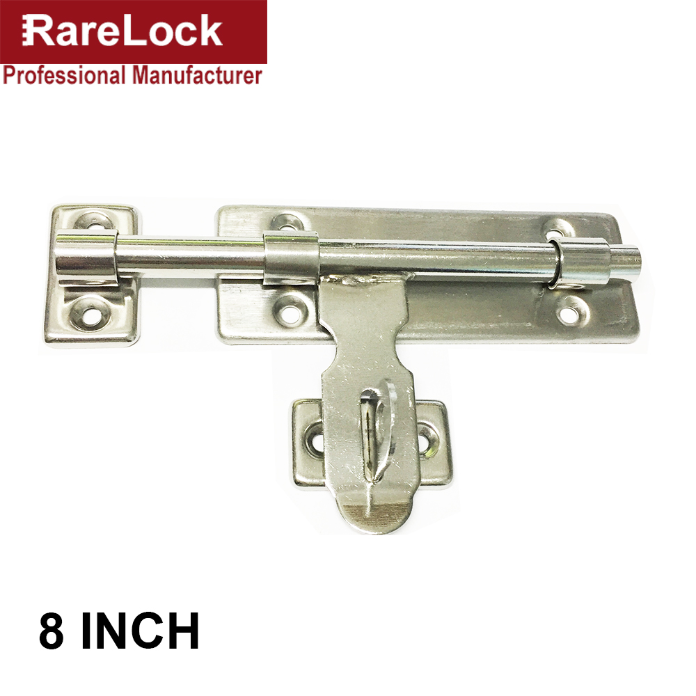 Rarelock Christmas Supplies Stainless Latch Door Lock Bolt for Interior Doors Cabinets Home Bathroom DIY Furniture Hardware b