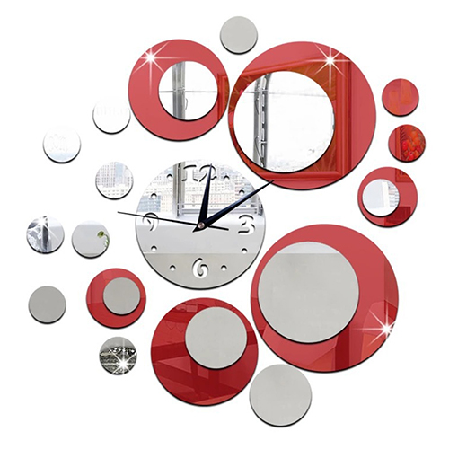 Hot Item Acrylic Clock Design Mirror Effect Mural Wall Sticker Home Decor Craft China