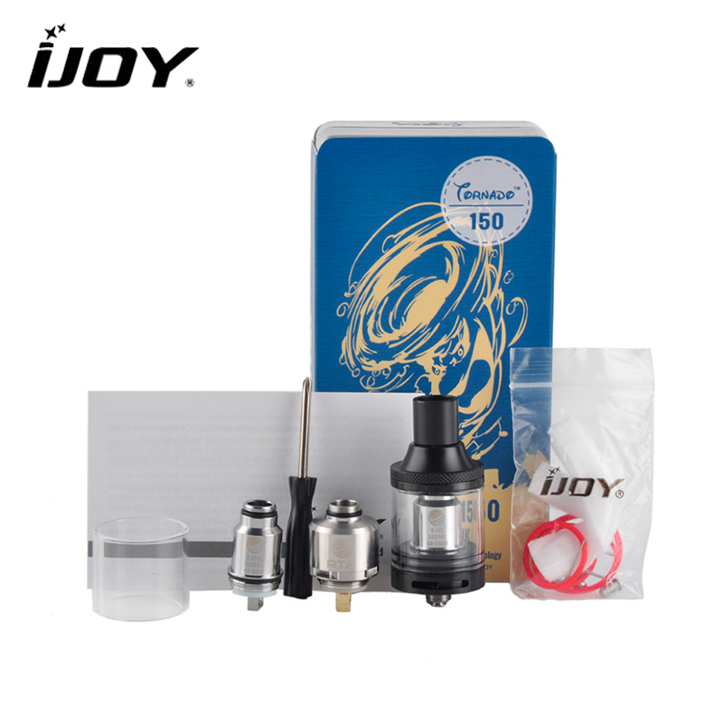 Original IJOY RTA Tornado 150 Sub Ohm Tank High Wattage 4.2ml Capacity Top-filling Design Rebuildable Atomizer Clearomizer