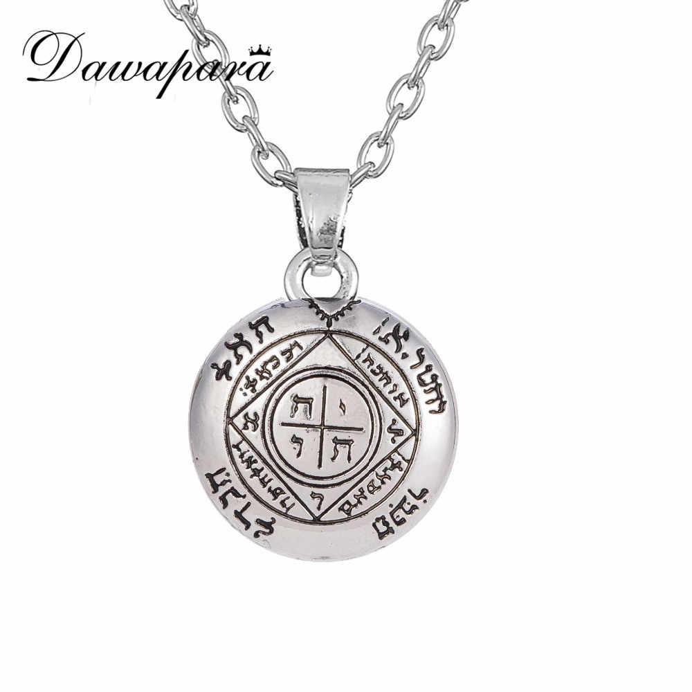 Dawapara piąty pentagram saturna klucz salomona pieczęć wisiorek stary naszyjnik Amulet Punk talizman