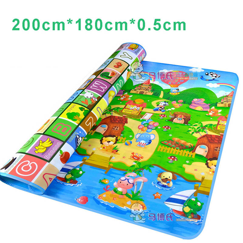 Kids Large Play Mat Rug Carpet Infant Children Bebe Gym Mat Playmat Baby Floor Games Mats